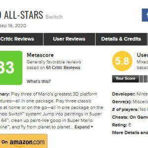 【悲報】スイッチにエミュ移植した『スーパーマリオ3Dコレクション』メタクリティックユーザースコア5.8点「ただのゴミで金を無駄にするようなもの」