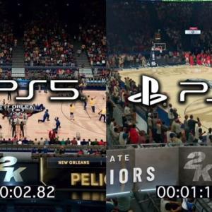 【神速】『NBA 2K21』PS4版VSPS5版ロード比較映像→PS4版「1分19秒」PS5版「2.82秒」違いすぎる!!