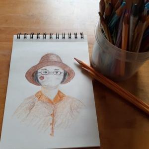 マスクと眼鏡と帽子