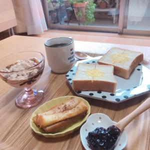 時間差で食べた夫婦の朝ごはん♡