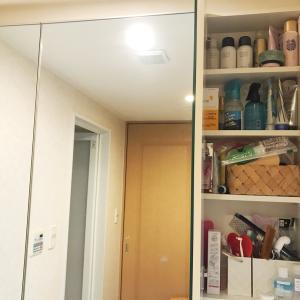 鏡面収納の整理整頓と断捨離 ビフォーアフター。