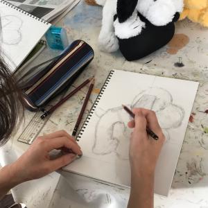 難しい〜〜けど楽しい❤️鉛筆画(動物画)レッスン始めました❤️
