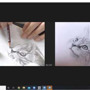 猫ちゃんを描く鉛筆画オンラインレッスン