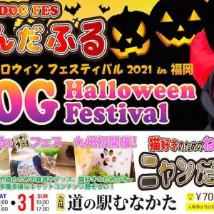 <予告> DOG HALLOWEEN FUKUOKA 2021 ドッグハロウィン福岡 【イベント情報】 2021年10月30日(土)・31日(日)開催予定