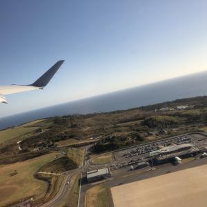 隠岐への飛行機の旅(復路)