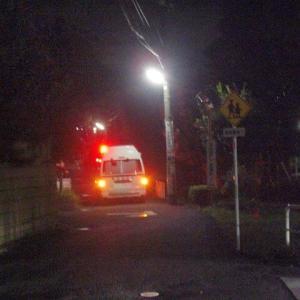 【早朝のお散歩】 2020/9/18 突然の救急車に驚き、美しい朝焼けを見た朝