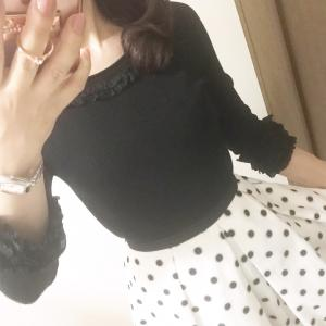 ♡ Since it is a rainy day, dot skirts ♡