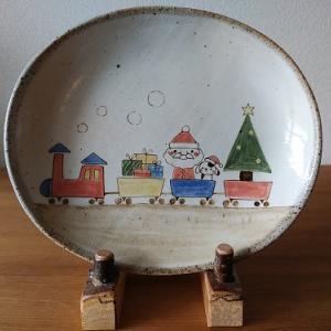 絵皿のクリスマス♪