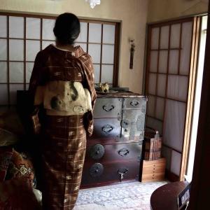 フグ帯に久米島紬のお支度