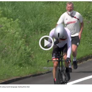 ドイツ自転車チームコーチが人種差別発言で帰国