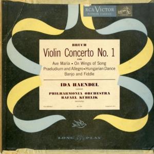 [盤質良好]イダ・ヘンデル&クーベリック/ブルッフ ヴァイオリン協奏曲1番、ヴァイオリン小品集(米RCA LBC1013)