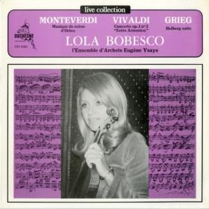 [優秀録音]ローラ・ボベスコ/「ライブ」モンテヴェルディ、ヴィヴァルディ、グリーグ(白 DUCHESNE DD6081)
