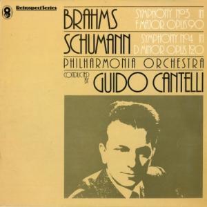 カンテッリ/ブラームス「交響曲3番」シューマン「交響曲4番」(英WRC SH315)