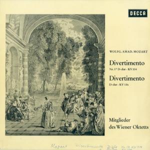 [お買い得品]ウィーン八重奏団員 /モーツァルト「ディベルティメント17番 KV334/KV136」(独DECCA SXL21034-B)