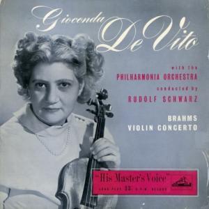[レア盤][初期フラット]ジョコンダ・デ・ヴィート/ブラームス「ヴァイオリン協奏曲」(英EMI ALP1104)