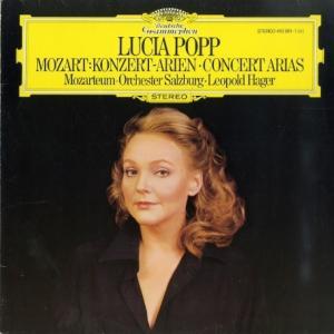 [ニアミント盤]ルチア・ポップ/モーツァルト「コンサートアリア集」(独DGG 410 961-1)