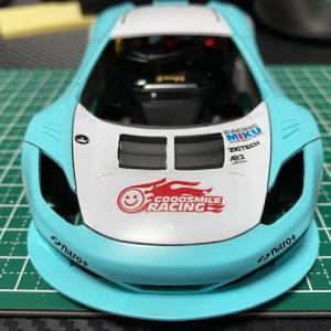 Mini-Z・第3期~ミクラーレン 12C GT3ボディ塗装 完成(゚д゚)