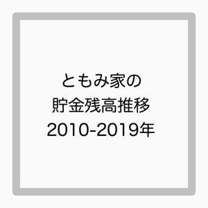 ともみ家の貯金残高推移2010年~2019年