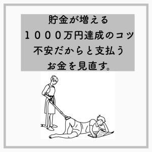 貯金が増える1000万円達成のコツ・不安だからと支払うお金を見直す。