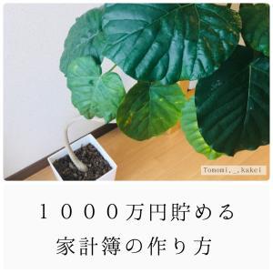 1000万円貯める家計簿の作り方