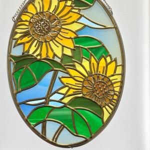 向日葵のガラスオーナメント