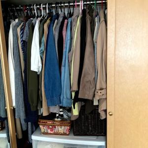 クローゼットの整理、洋服の枚数