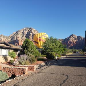 気球がうちの近所に緊急着陸!