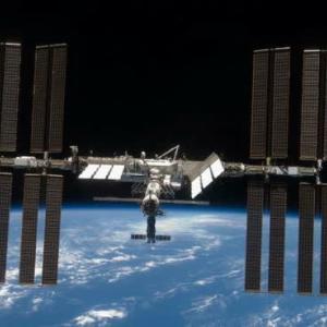 ISSに きぼう の光を見た