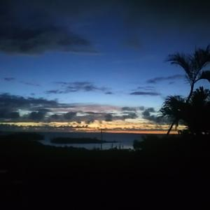 心の風景 海の見える庭 朝の詩