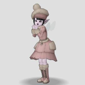 エルおじが「もこもこセット」を着てみた!(おきがえリポちゃん)