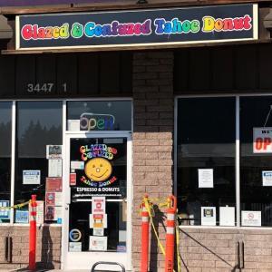レイクタホ グルメ:ドーナツショップの朝食 Glazed and Confused Tahoe Donut(グレイズド&コンフューズド タホ ドーナツ)