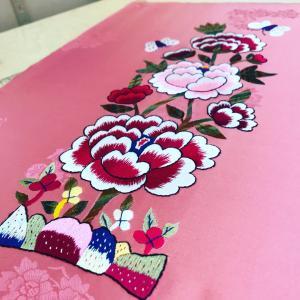 牡丹の刺繍