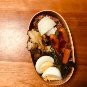 ウィンナーと舞茸の炒め物弁当