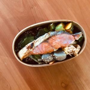 鮭弁当と酵素玄米