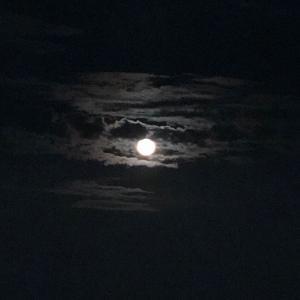 お月様と国際宇宙ステーション