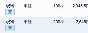 大和工業と三菱商事を売りました。