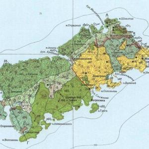 色丹島の地質図