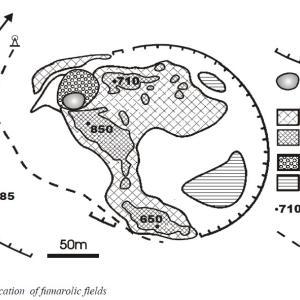択捉島の火山噴気孔で発見されたプラチナ