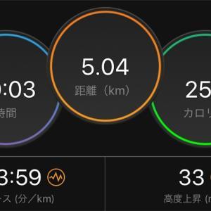 懲りずに閾値走【2019/10/23夜ラン】