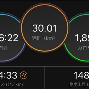 ヘトヘトの30km走【2019/10/26昼ラン】