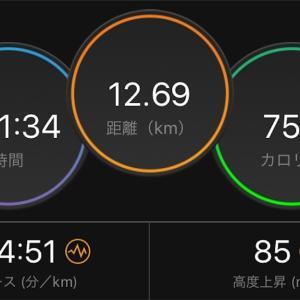 隙間で60分ジョグ【2019/10/29午前ラン】