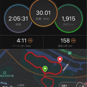 大田原3週前の30km走【2019/11/02午後ラン】