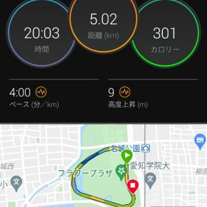 名城公園閾値走【2021/05/29午前ラン】