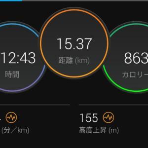 起伏ジョグ【2021/06/15夜ラン】