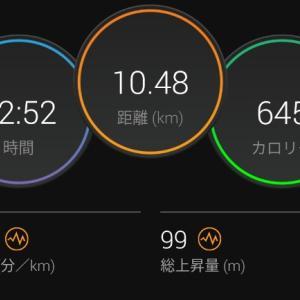 起伏コースでEペース【2021/09/28夜ラン】