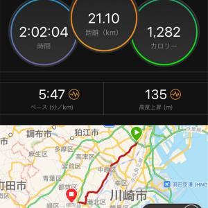 帰宅ランでハーフマラソン【2019/08/01夜ラン】