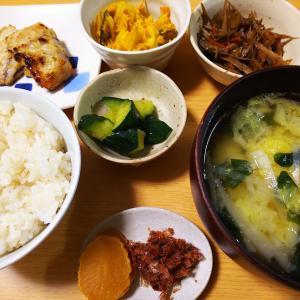 鯖の味噌マヨ焼きの夜ごはん