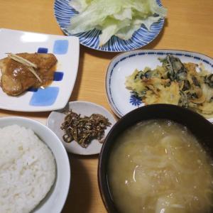 鯖の味噌煮の夜ごはん