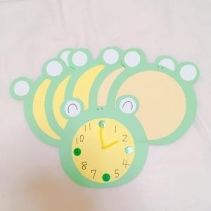 【季節の製作】時の記念日◆かえるのお時計さん