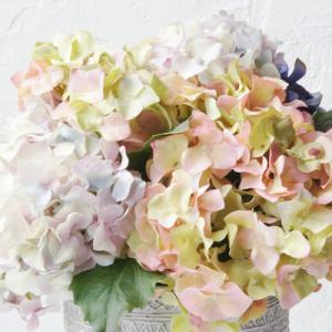 どっしり安定感あるナチュラルな紫陽花アートフラワー(造花)
